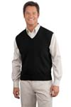 Port Authority; Fine Gauge V Neck Sweater Vest. SW276