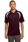 Sport Tek; Dry Zone Colorblock Raglan Polo. T476