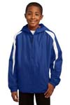 Sport Tek; Youth Fleece Lined Colorblock Jacket. YST81
